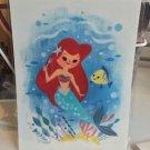 Disney WonderGround Little Mermaid Ariel and Flounder Postcard by Joey Chou New