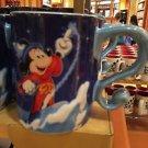 Disney Parks Mickey Mouse Sorcerer Logo Ceramic Coffee Mug New