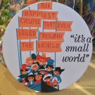 Disney Parks Attraction Poster Cup Coaster Feat. It's A Small World NEW