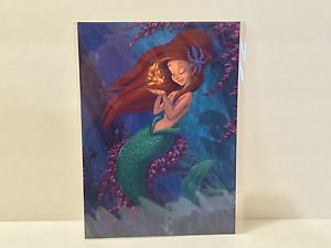 Disney Wonderground Gallery Ariel's Golden Wish Postcard by Martin Hsu RARE