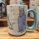 Disney Parks Monsters Inc Sketch Art Sulley Ceramic Mug Cup 16oz. New