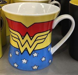 Six Flags Magic Mountain DC Wonder Woman Waist Ceramic Mug Cup New