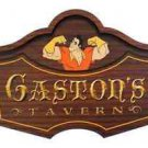 Disney Parks Gaston's Tavern Wooden Sign Walt Disney World Exclusive New in Box