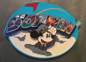 Disney Parks Disney California Pilot Mickey Mouse Soaring Wood Magnet New