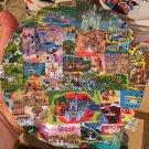 "Disney Parks Walt Disney World Magic Kingdom Park Map 11"" Dinner Plate New"
