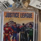 Six Flags Magic Mountain DC Justice League Clear Acrylic Keychain New