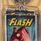 Six Flags Magic Mountain DC The Flash Clear Acrylic Keychain New