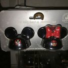 Disney Parks Mickey and Minnie Mouse Ear Hat Ceramic Salt and Pepper Shaker Set