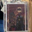 Six Flags Magic Mountain DC Batman Clear Acrylic Keychain New