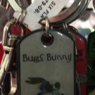 Six Flags Magic Mountain Looney Tunes Bugs Bunny Metal Keyring Keychain New