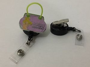 Disney Tinker Bell Retractable Badge ID Holder w/ Swivel Alligator Clip