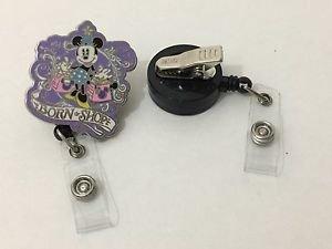 Disney Minnie Born To Shop Retractable Badge ID Holder Swivel Alligator Clip