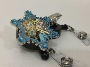 Disney Frozen Elsa and Anna Retractable Badge ID Holder w/ Swivel Alligator Clip