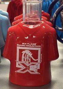 Six Flags Magic Mountain T-Shirt Shot X-2 Ceramic Shot Glass New