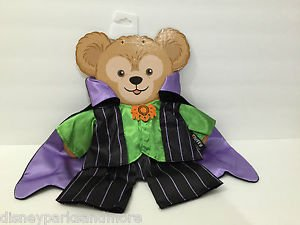 "Disney Parks Mickey's Duffy Plush Bear Halloween Vampire 17"" Costume Outfit New"