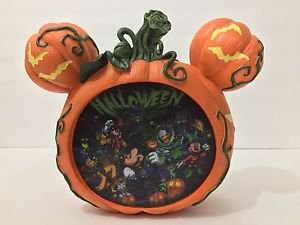 Disney Parks Halloween Time Boo To You Light Up Pumpkin Mickey and Friends New