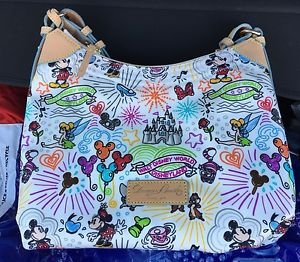 Disney Parks Dooney & Bourke Nylon Sketch Champsac Bag Princess Castle and Logo