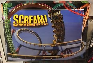 Six Flags Magic Mountain Scream! Attraction Postcard New
