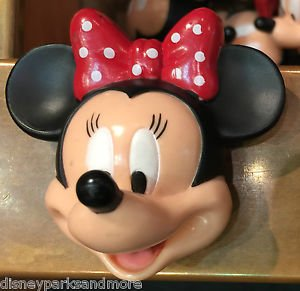 DISNEY PARKS EXCLUSIVE MINNIE MOUSE WITH BOW 3-D MAGNET HEAD NEW