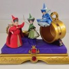 Disney Parks Medium Figure Flora, Fauna & MerryWeather Figure By Ron Cohee New
