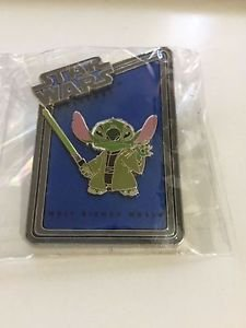 Walt Disney World Star Wars Weekends Stitch as Jedi Master Yoda LE Pin ONLY! New