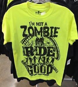 Six Flags Magic Mountain I'm Not A Zombie Ride Good Mens Shirt XS,M,L XL,XXL New