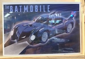 Six Flags Magic Mountain DC Comics Batman The Batmobile Postcard New