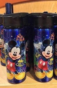 Disney Parks Exclusive Mickey Mouse Screen Art Sports Bottle W/ Pop Lid New