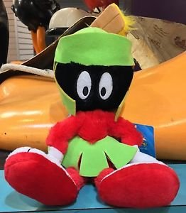 """Six Flags Magic Mountain Looney Tunes Marvin The Martian 16"""" Plush New with Tags"""