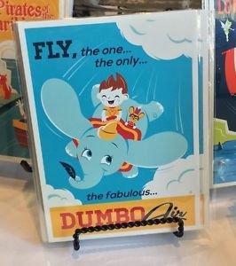 DISNEY WONDERGROUND GALLERY FLY DUMBO AIR POSTCARD DAVE PERILLO