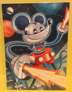 Disney WonderGround Gallery PowerMouse Mickey Postcard by Jeff Granito RARE HTF