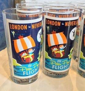 DISNEY WONDERGROUND GALLERY PETER PAN'S FLIGHT GLASS CUP DAVE PERILLO