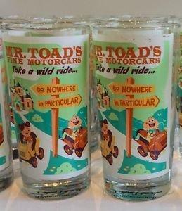 DISNEY WONDERGROUND GALLERY MR TOAD'S WILD RIDE GLASS CUP DAVE PERILLO