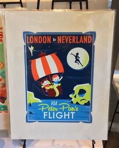DISNEY WONDERGROUND GALLERY PETER PAN'S FLIGHT DELUXE PRINT BY DAVE PERILLO