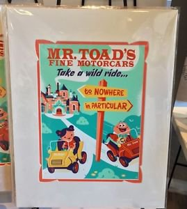 DISNEY WONDERGROUND GALLERY MR TOAD'S WILD RIDE DELUXE PRINT BY DAVE PERILLO