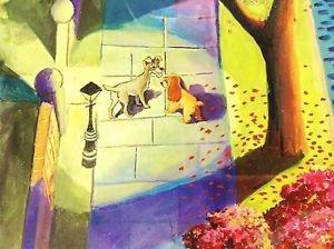 Disney WonderGround Lady & The Tramp Tramp's World Print Daniel Samakow Retired