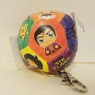 Six Flags Magic Mountain Justice League Multi Character Ball Patch Keychain New