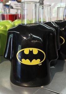 Six Flags Magic Mountain Batman Logo Ceramic Shirt Style Shot Glass New