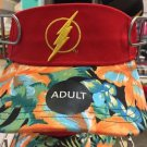 Six Flags Magic Mountain DC The Flash Floral Lip Adjustable Visor Hat Cap New