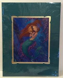 Disney WonderGround Little Mermaid Ariel's Golden Wish SIGNED Print Martin Hsu