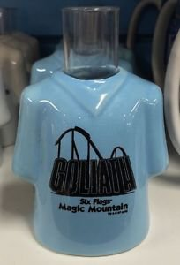 Six Flags Magic Mountain Goliath Ceramic Shirt Style Shot New