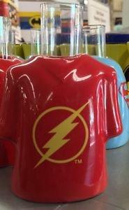 Six Flags Magic Mountain The Flash Logo Ceramic Shirt Style Shot Glass New