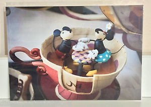 Disney WonderGround Mickey & Minnie Mad Tea Party Postcard by Sean Chao RARE NEW