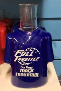 Six Flags Magic Mountain Ceramic Shirt Style Shot Glass Full Throttle New