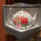 Disney Parks Beauty & The Beast Princess Belle w/ Flowers Ceramic Tea Pot New