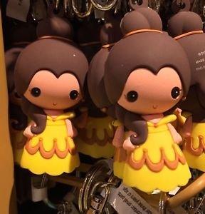 Disney Parks Cartoon Cuties Beauty & The Beast Princess Belle Keyring Keychain