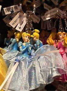 Disney Parks Princess Cinderella Figurine Keyring Keychain New