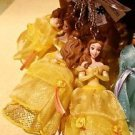 Disney Parks Beauty And The Beast Princess Belle Figurine Keyring Keychain New