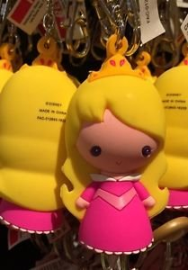 Disney Parks Cartoon Cuties Sleeping Beatuy Princess Aurora Keyring Keychain New