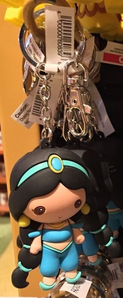 Disney Parks Cartoon Cuties Aladdin's Princess Jasmine Keyring Keychain New